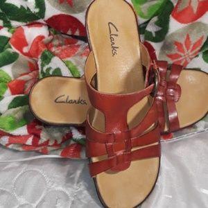 Clark's Red Sandals